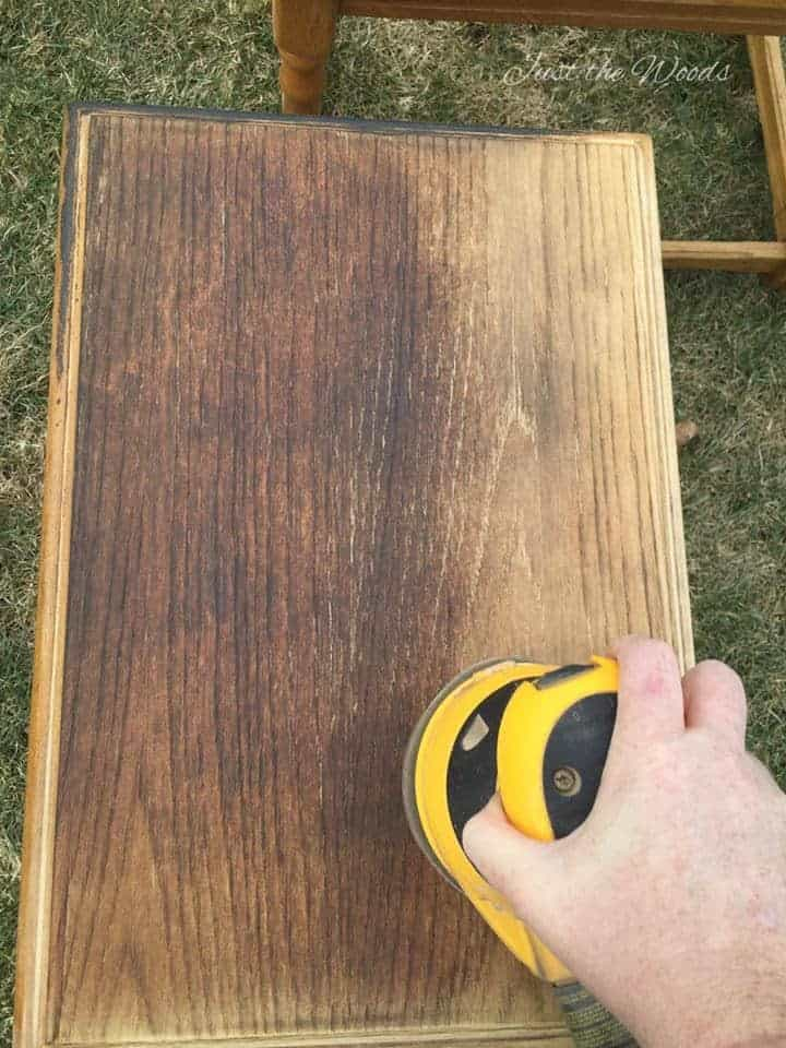 wood burned tables, nested tables, sanding tables