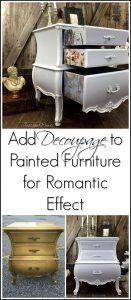 decoupage-painted-furniture, bombe chest, bombay