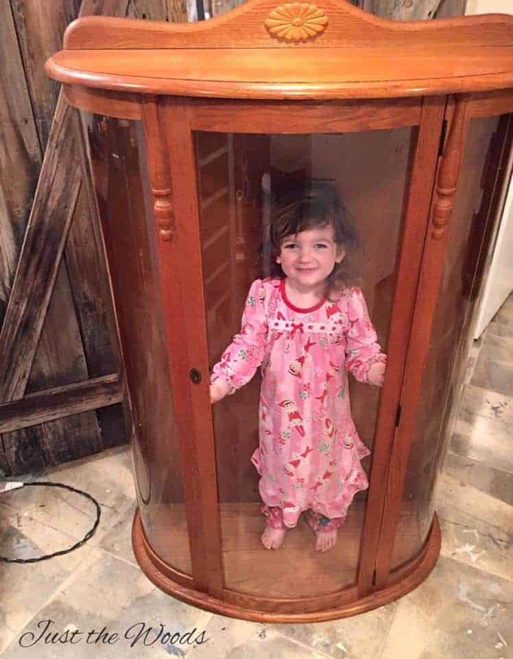 Doll Case Curio Cabinet Makeover Diy Painting Ideas