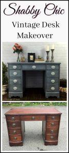 painted-shabby-chic-desk, vintage desk, painted desk, staten island, chalk paint