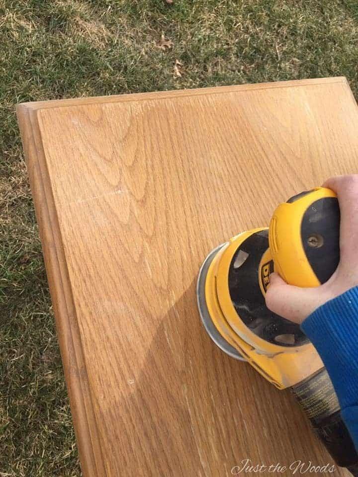 Wood Burned tables, wood burning, sanding wood, electric sander, stacking tables