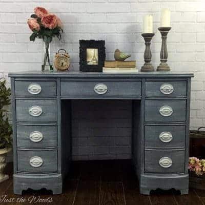 Hand Painted Shabby Chic Hepplewhite Desk