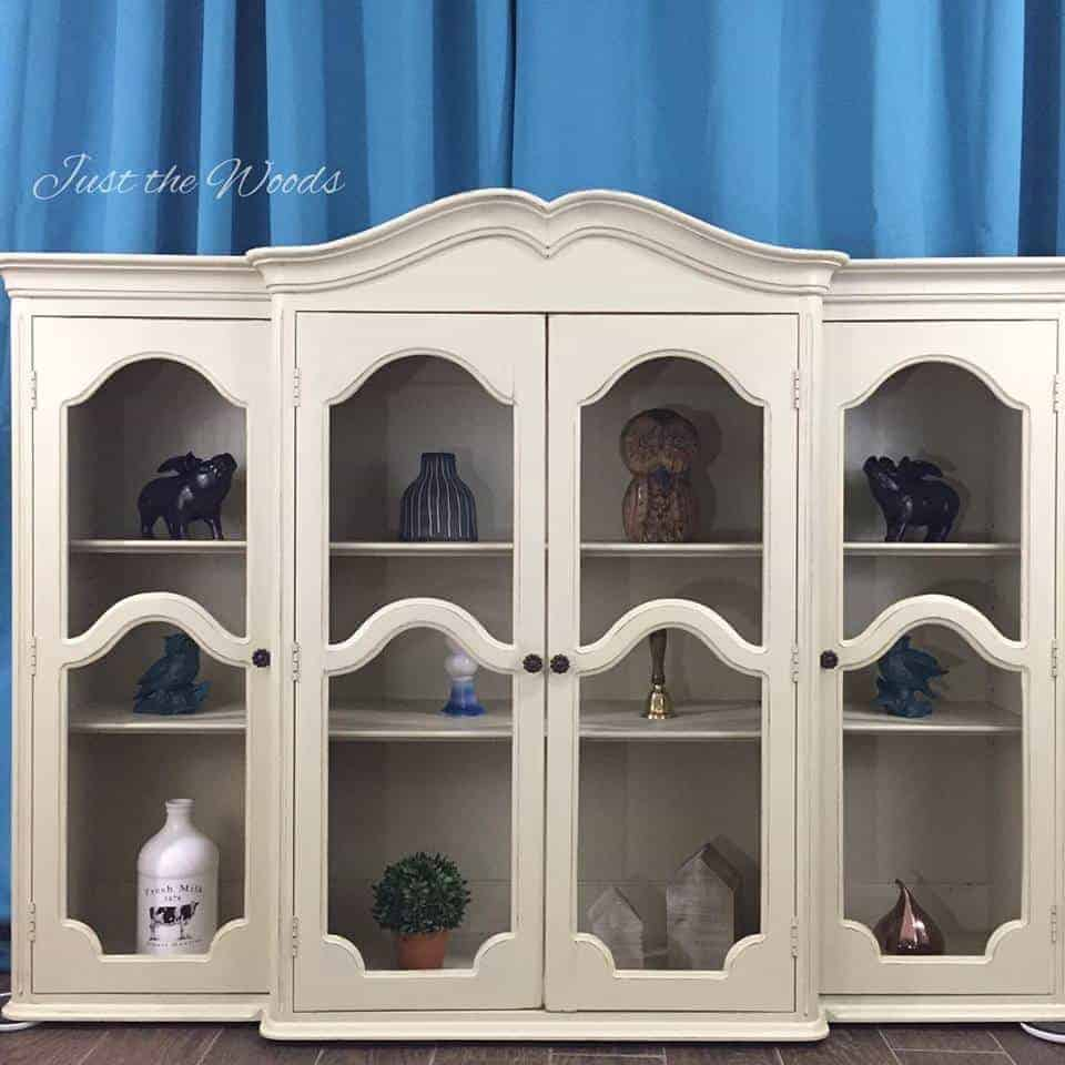 Painted china cabinet hutch