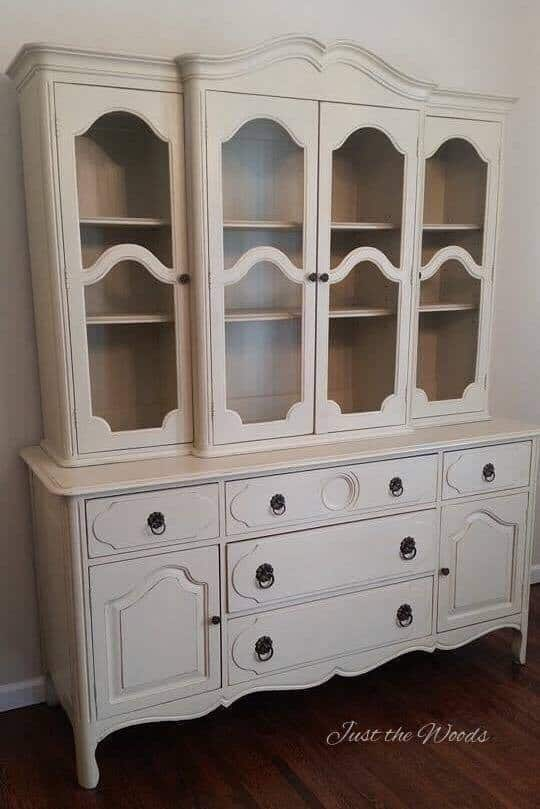 Hand Painted Vintage China Cabinet by Just the Woods