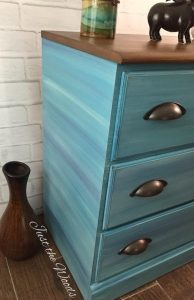 Coastal Painted Dresser with Wood top