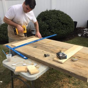 extra support, build farm table, barn wood table, how to build, farmhouse, hand made