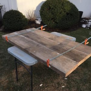 clamps, build farm table, reclaimed wood, how to build, farmhouse, barn wood, hand made