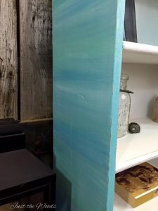 Cool Blues Painted Bookcase / Just the Woods