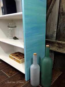 Painted Bookcase in layered blues
