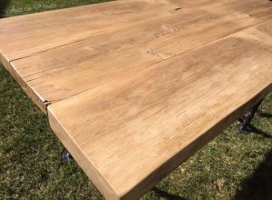 Reclaimed barn wood table made from scratch by just the woods for How to build a wooden table from scratch