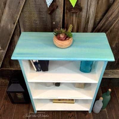 Coastal Style Furniture – Beachy Blues Painted Bookcase