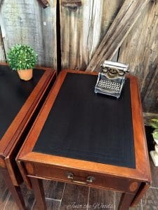 Yes You Can Paint Leather Vintage Drop Side Tables