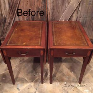 Drop Side Table, Vintage Tables, Leather Tables, Vintage Furniture, Paint  Leather
