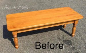coffee table, solid wood, just the woods, staten island, painted furniture