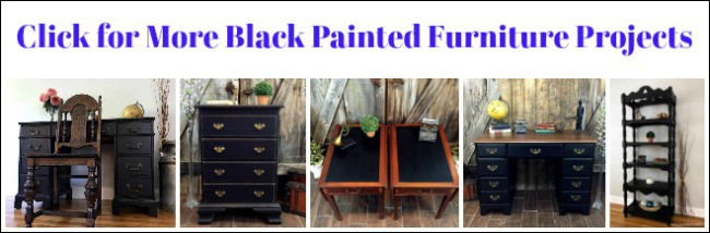 black painted furniture