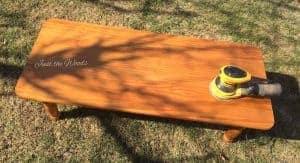 honey pine coffee table