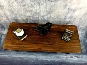 Painted Coffee Table - Black, Stain and Wood Grain / Just the Woods
