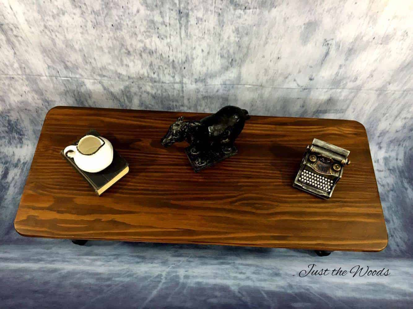 Painted Coffee Table - Black, Stain and Wood Grain / coffee table makeover ideas