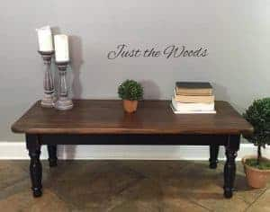 black paint, chalk paint, wood grain, coffee table, new york