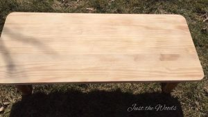 Sanded coffee table top