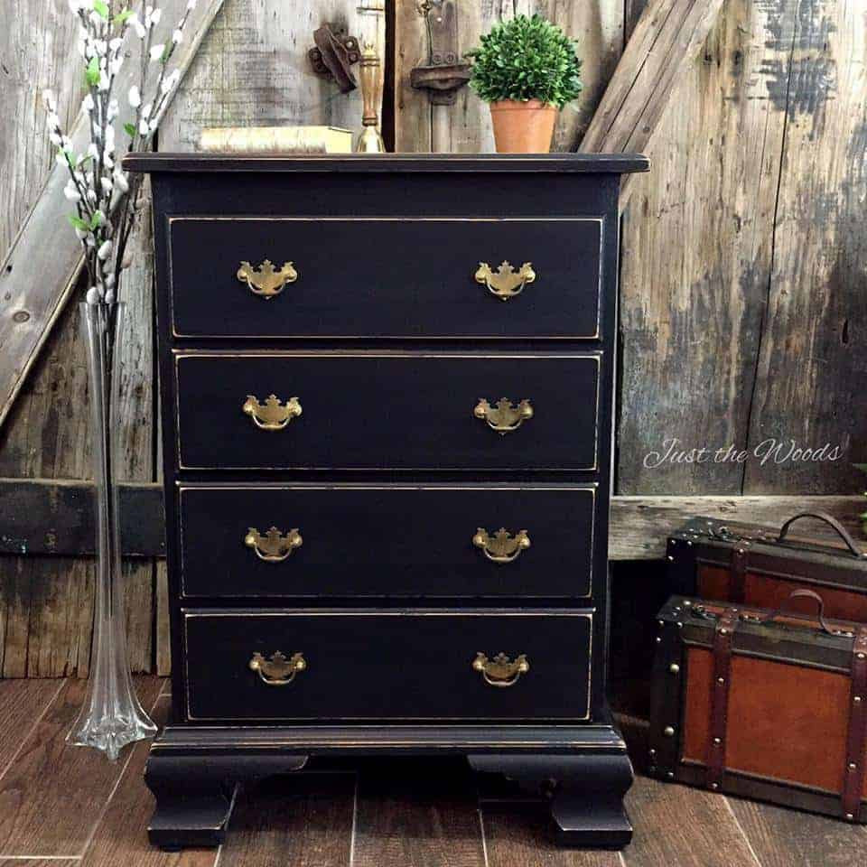 chalk paint, black paint, graphite, pure home paint, painted dresser, painted black, staten island, nyc