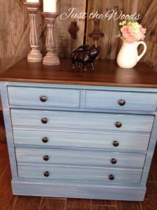 Coastal Blue Painted Dresser