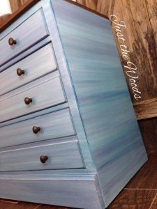 Coastal Blue Painted Dresser by Just the Woods