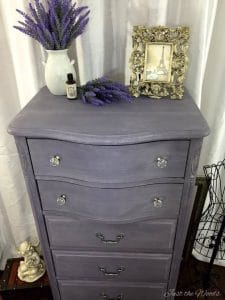 painted lavender lingerie chest, painted dresser, lingerie dresser