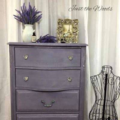 Lovely Lavender Lingerie Chest with Pure & Original Paint