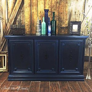 Vintage Blue Buffet, painted buffet, midnight blue, chalk paint, pure home paint, non toxic paint, staten island, painted furniture, shabby chic