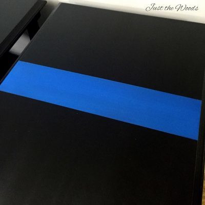 Thin Blue Line Painted End Tables