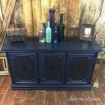 Vintage Painted Blue Buffet
