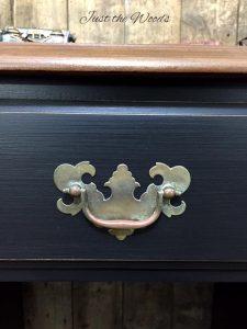 Vintage Hardware, original hardware, patina, vintage desk, vintage furniture, just the woods