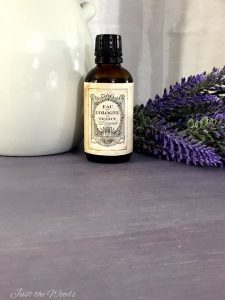 faux lavender, essential oil, vintage label, aged paper