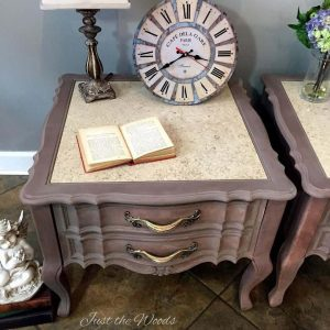 Romantic Painted Gustavian Style Tables / Just the Woods