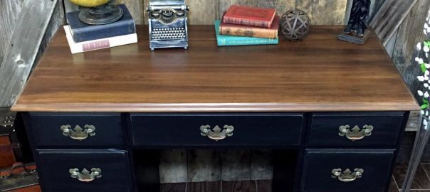 Rags To Riches Vintage Desk Makeover By Just The Woods