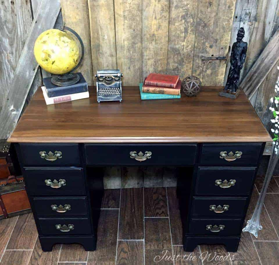 Vintage Desk Makeover A Rags To Riches Story By Just The
