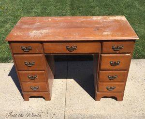 vintage desk, unfinished desk, vintage furniture, damaged desk,