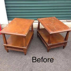 vintage end tables, brandt tables, wood end tables,