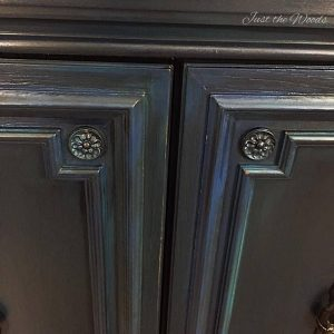 chalk paint, pure home paint, blue painted buffet, vintage buffet, painted furniture, just the woods, new york, staten island
