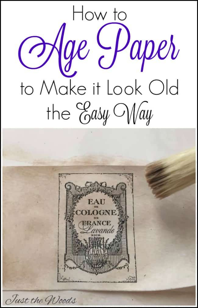 how to age paper, make paper look old, stain paper, antique paper, make old looking paper,