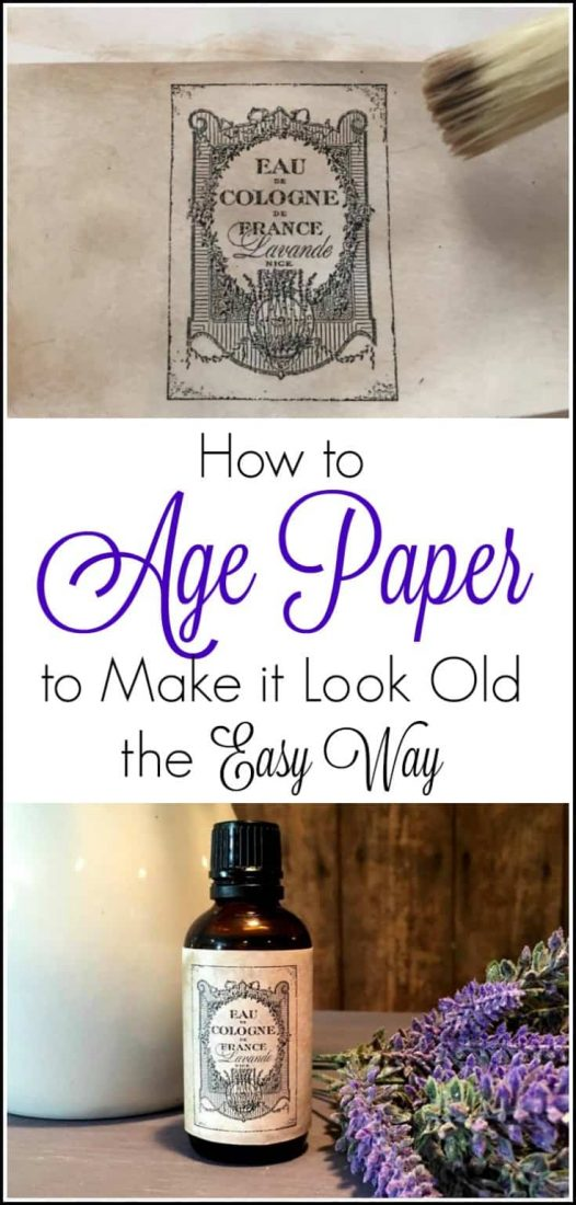 how to make paper look old, easy way to age paper