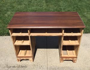 wood stain, wood desk, staten island, refinished desk, shabby chic, ny