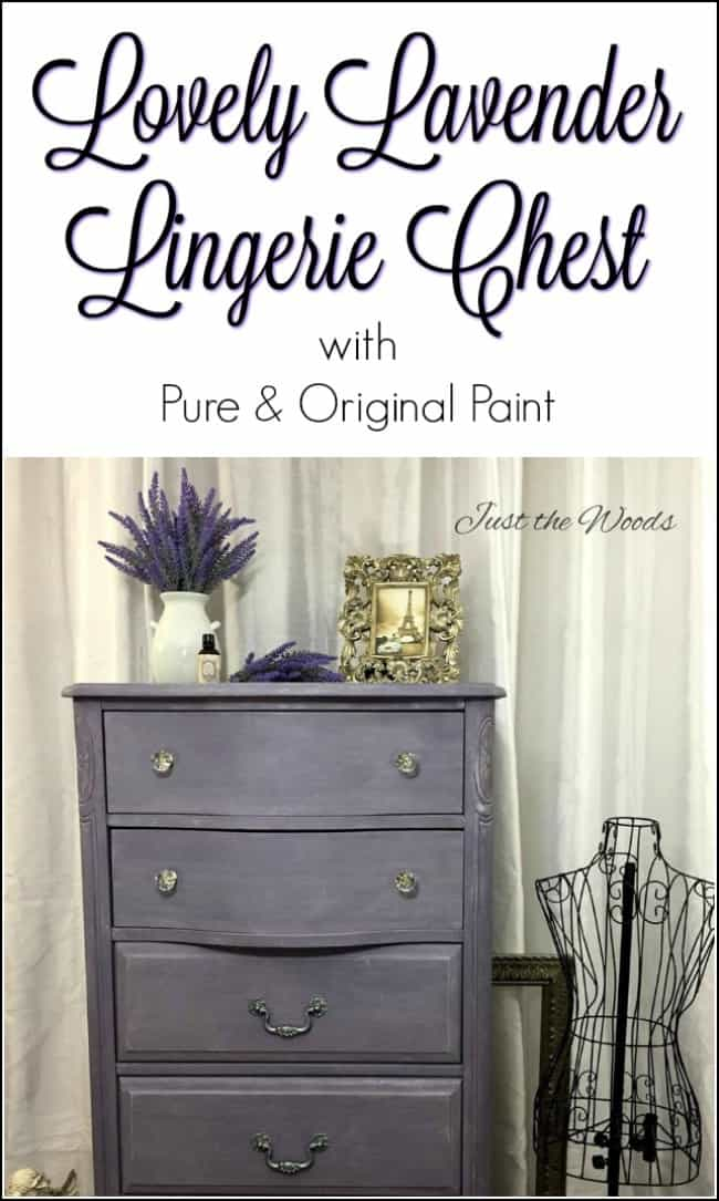 lavender lingerie chest, painted lingerie chest, lingerie dresser