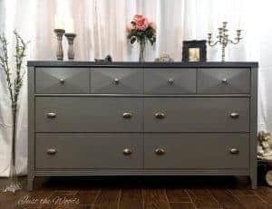modern dresser, painted dresser, staten island, chalk paint, gray dresser, staten island, ny, nj, shabby chic