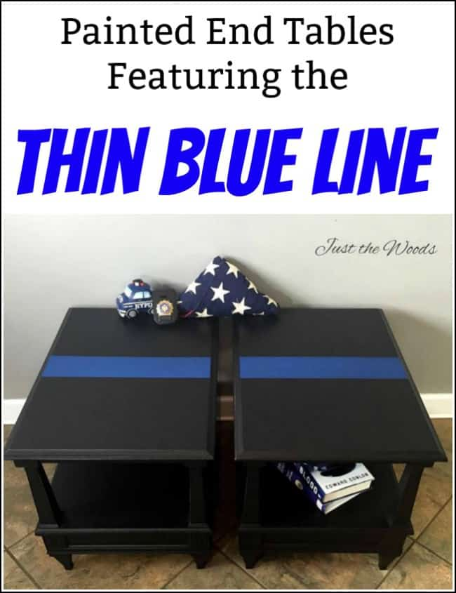 thin blue line painted furniture