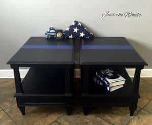 Thin Blue Line Tables by Just the Woods