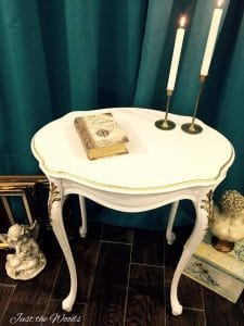 White and Gold, Classy and Bold Accent Table