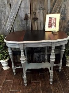 Antique Parlor Table Makeover by Just the Woods