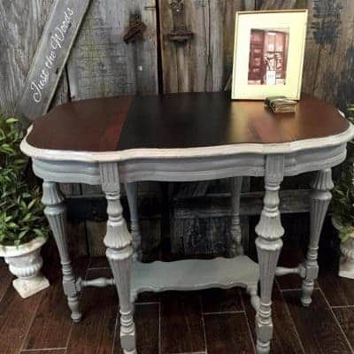 Antique Victorian Parlor Table Makeover